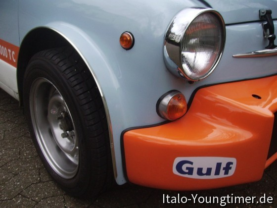Fiat ABARTH 1000 TC mit 5 1/2 J x 13 ET 9 Borrani CMR Felgen