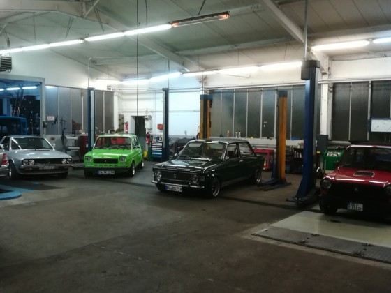 Endlich mal schöne Autos in der werkstatt