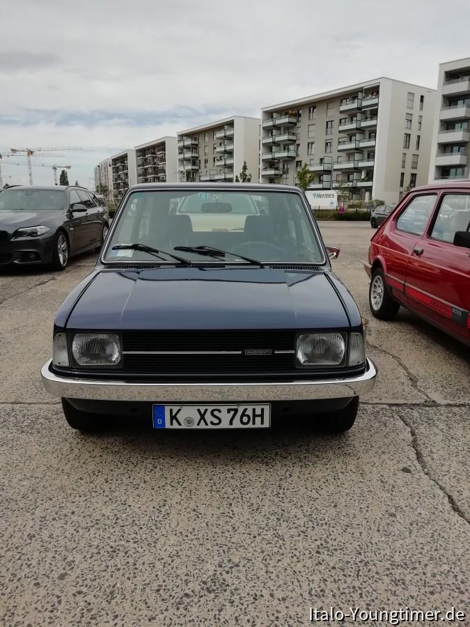Innocenti mini 90 SL ,heutiges Treffen mit Magnus in Köln, Motorworld