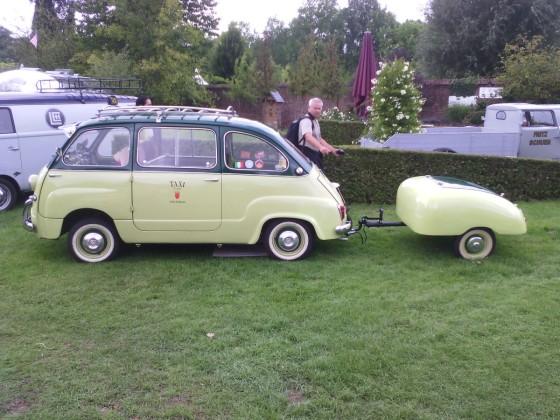 Fiat 600 Multipla, classic days, Schloss Dyck