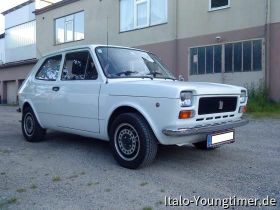 Fiat 127 mit A112 70 HP Motor und 185/60/13 auf 5x13 Speedlines