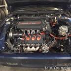 Lancia Thema 8.32. Die überholte Antriebseinheit ist eingebaut.